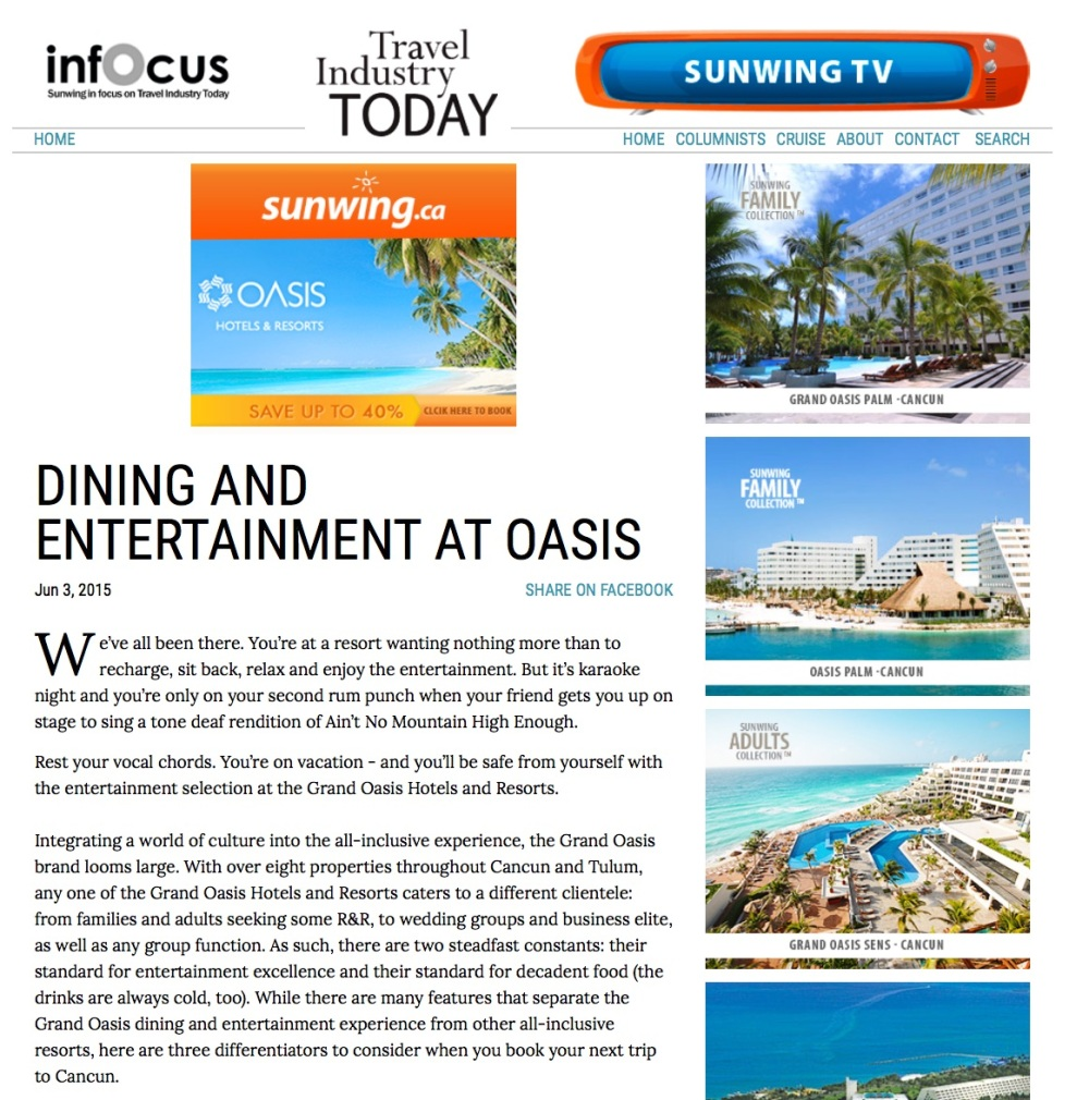 Dining and Entertainment at Oasis copy